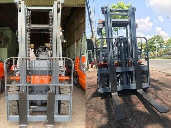 Các loại khung nâng lắp trên xe 3 tấn Heli