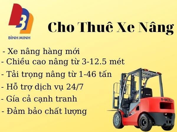 Ưu điểm khi thuê xe nâng tại Bình Minh